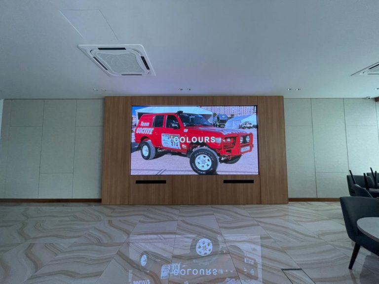 LED Screen at Beverly's Equine Residence Sales Gallery