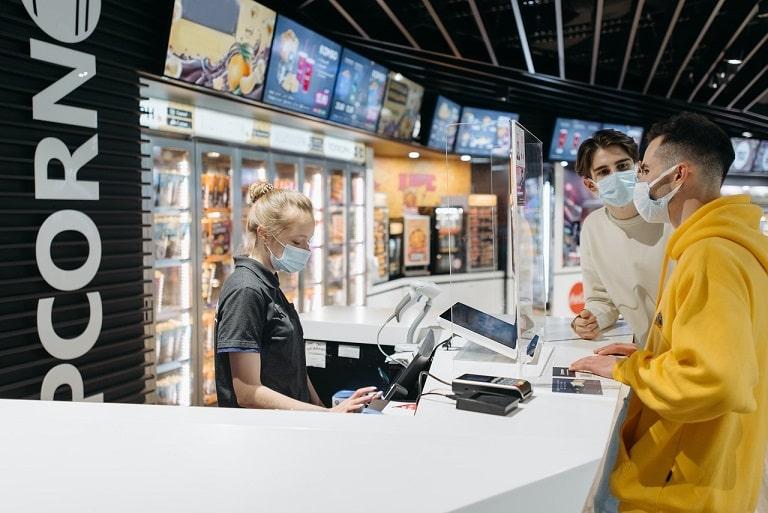 Digital Menu Display at counter.